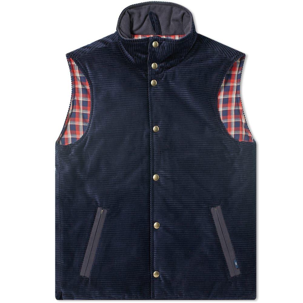 ブルー ドゥ パナム Bleu de Paname メンズ ベスト・ジレ トップス【horizon corduroy vest】Navy