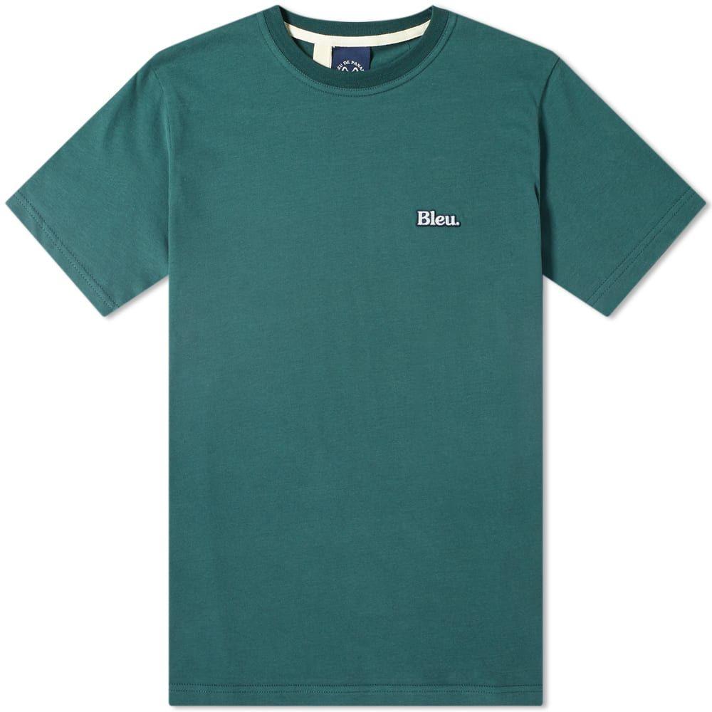 ブルー ドゥ パナム Bleu de Paname メンズ Tシャツ トップス【bleu patch tee】Bottle Green