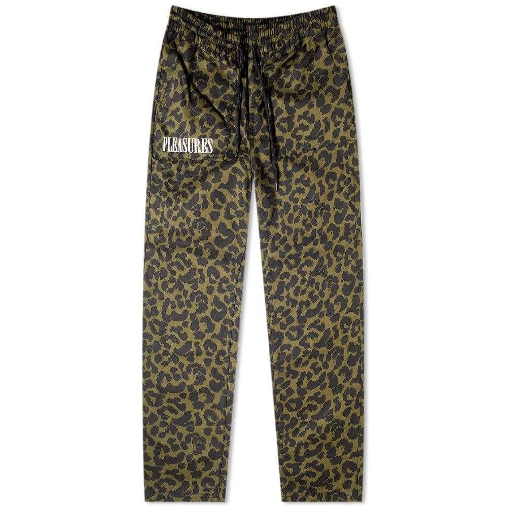 プレジャーズ PLEASURES メンズ スウェット・ジャージ ボトムス・パンツ【leopard beach pant】Olive