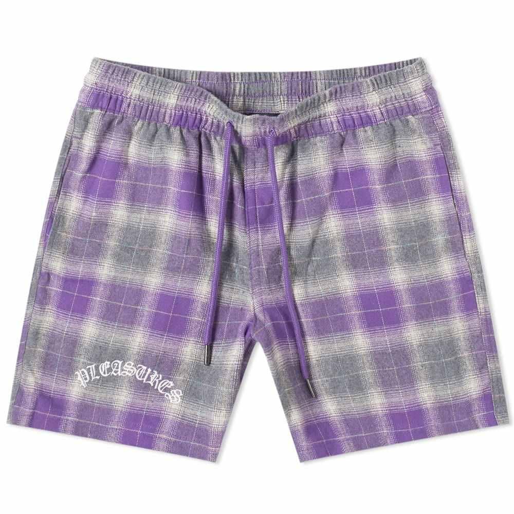 プレジャーズ PLEASURES メンズ ショートパンツ ボトムス・パンツ【shadow plaid short】Purple