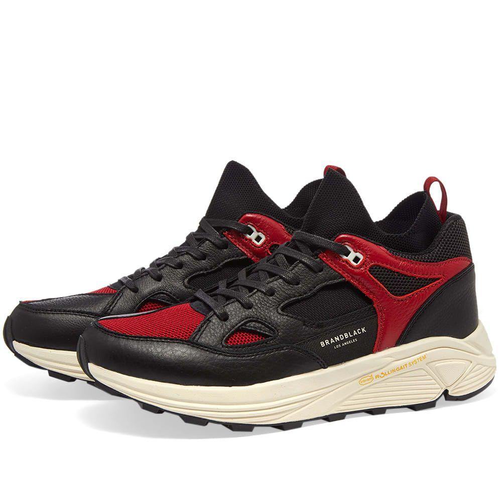 ブランドブラック Brandblack メンズ シューズ・靴 スニーカー【Aura】Black/Red