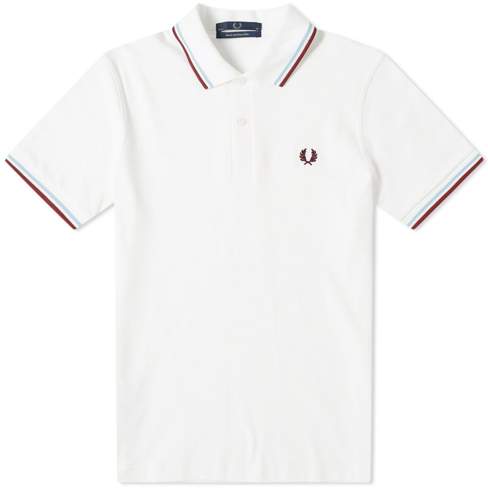 フレッドペリー Fred Perry Laurel Wreath メンズ ポロシャツ トップス【fred perry reissues original twin tipped polo】White/Ice/Maroon