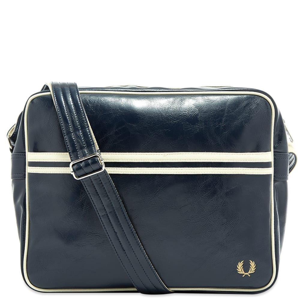 フレッドペリー Fred Perry Authentic メンズ ショルダーバッグ バッグ【classic shoulder bag】Navy/Ecru