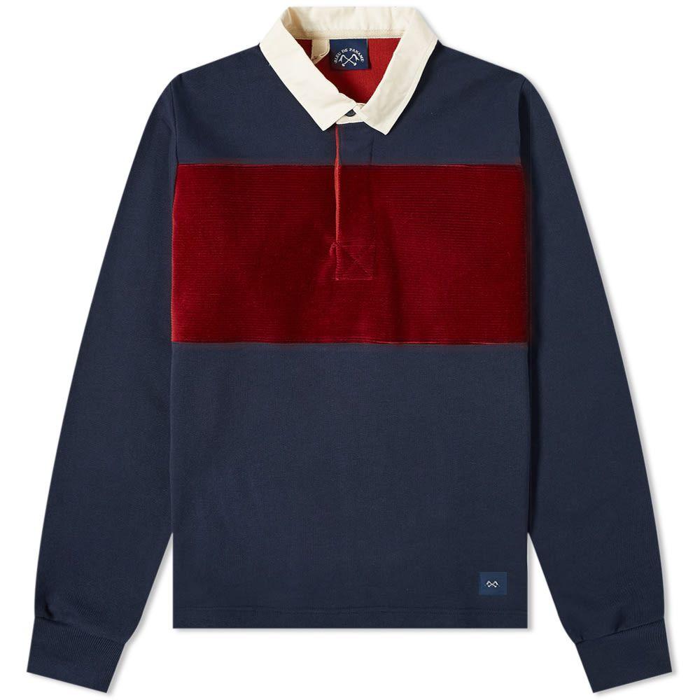 ブルー ドゥ パナム Bleu de Paname メンズ ポロシャツ トップス【rugby polo】Navy