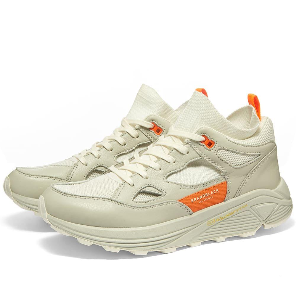 ブランドブラック Brandblack メンズ シューズ・靴 スニーカー【Aura】White/Orange