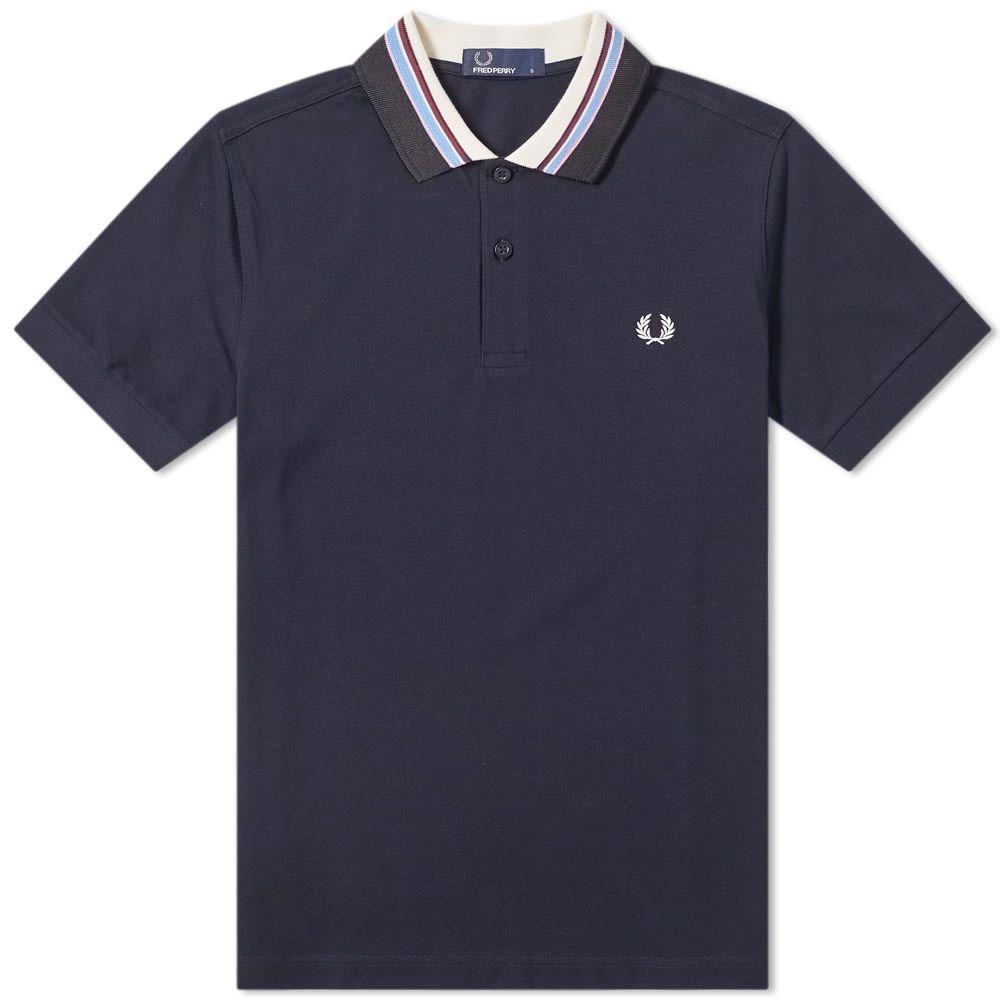 フレッドペリー Fred Perry Authentic メンズ ポロシャツ トップス【stripe collar polo】Navy