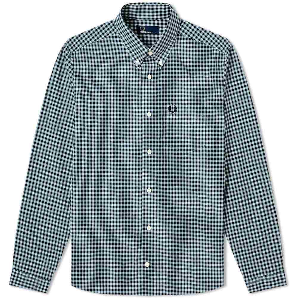 フレッドペリー Fred Perry Authentic メンズ シャツ トップス【button down gingham shirt】Lapis