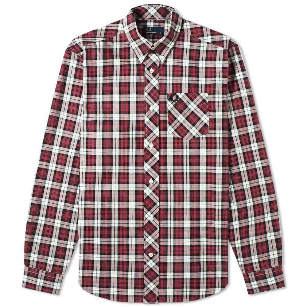 フレッドペリー Fred Perry Authentic メンズ シャツ トップス【button down tartan shirt】Maroon