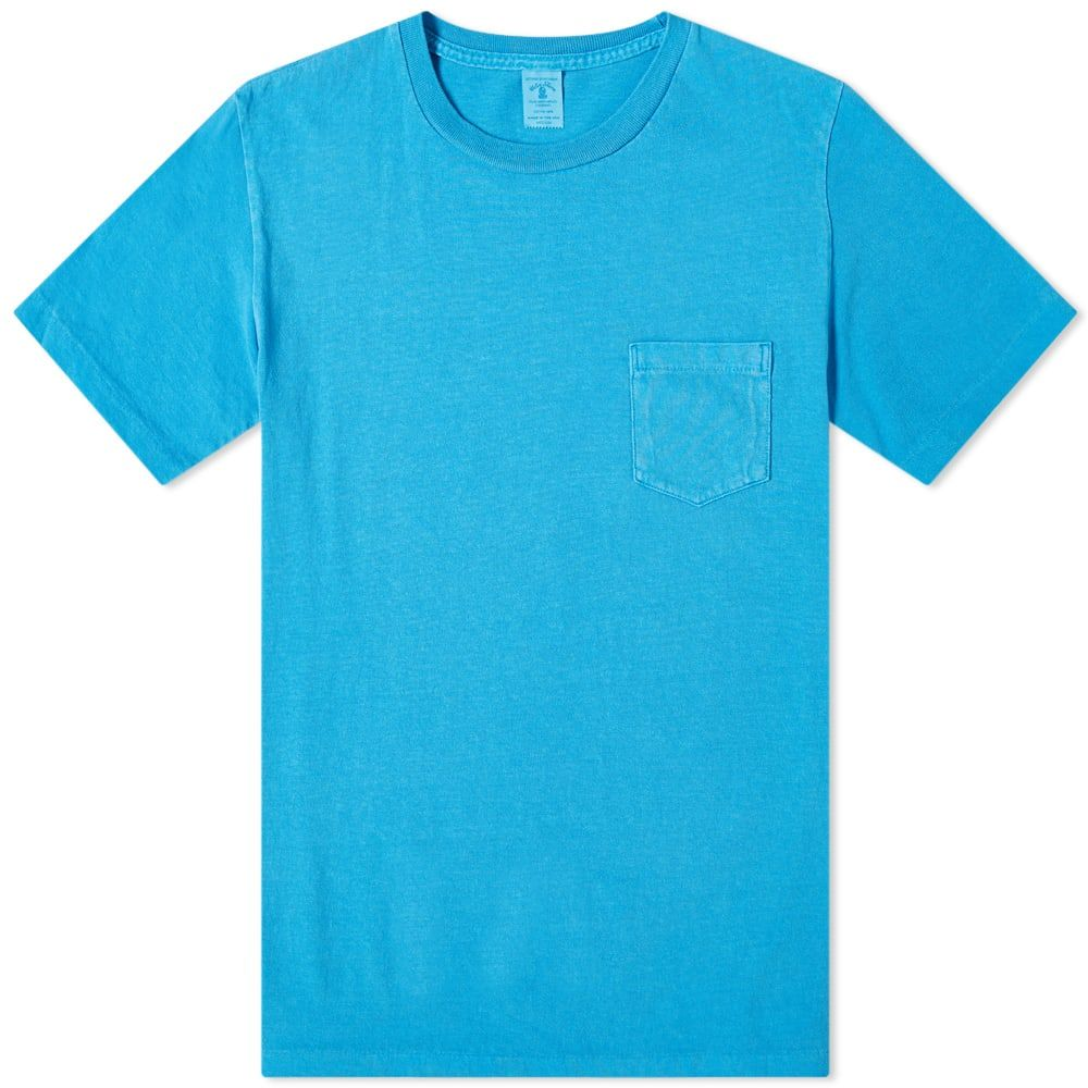 ベルバシーン Velva Sheen メンズ Tシャツ ポケット トップス【pigment dyed pocket tee】Light Blue