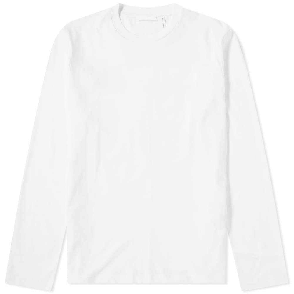 ヘルムート ラング Helmut Lang メンズ 長袖Tシャツ ロゴTシャツ トップス【long sleeve overlay logo tee】White