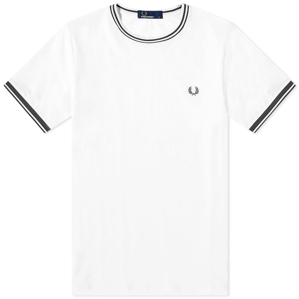 フレッドペリー Fred Perry Authentic メンズ Tシャツ トップス【fred perry twin tipped tee】White
