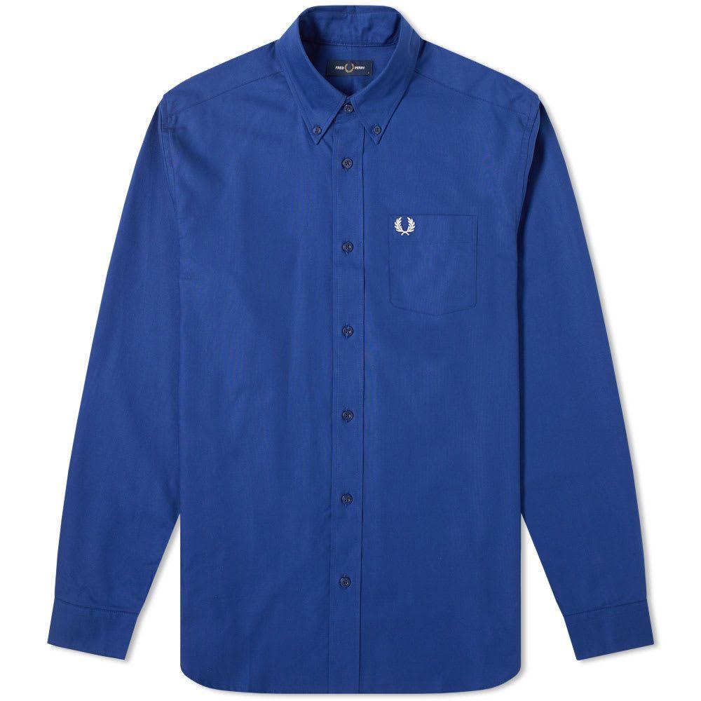 フレッドペリー Fred Perry Authentic メンズ シャツ トップス【button down oxford shirt】Medieval Blue
