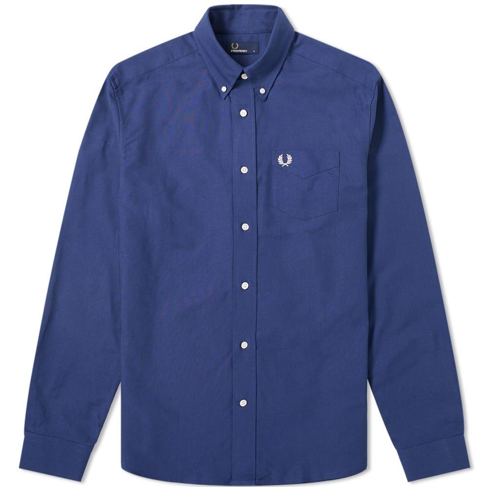 フレッドペリー Fred Perry Authentic メンズ シャツ トップス【button down oxford shirt】French Navy