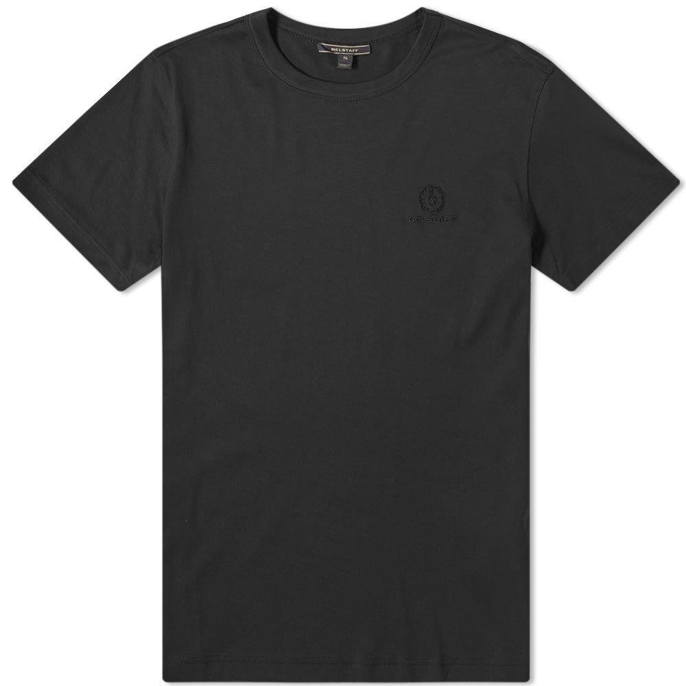 ベルスタッフ Belstaff メンズ Tシャツ ロゴTシャツ トップス【embroidered logo tee】Black