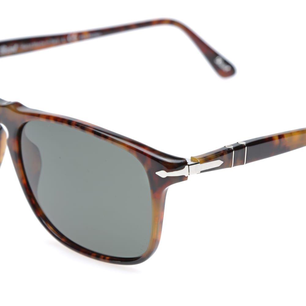ペルソール Persol メンズ メガネ・サングラス アビエイター スクエアフレーム【3059s square framed polarised aviator sunglasses】Havana