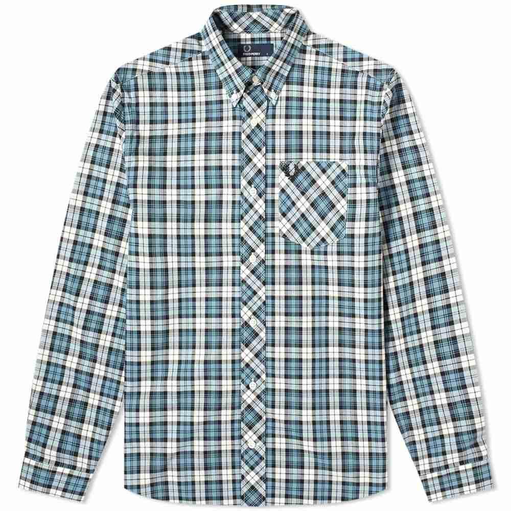 フレッドペリー Fred Perry Authentic メンズ シャツ トップス【button down tartan shirt】Provence Blue