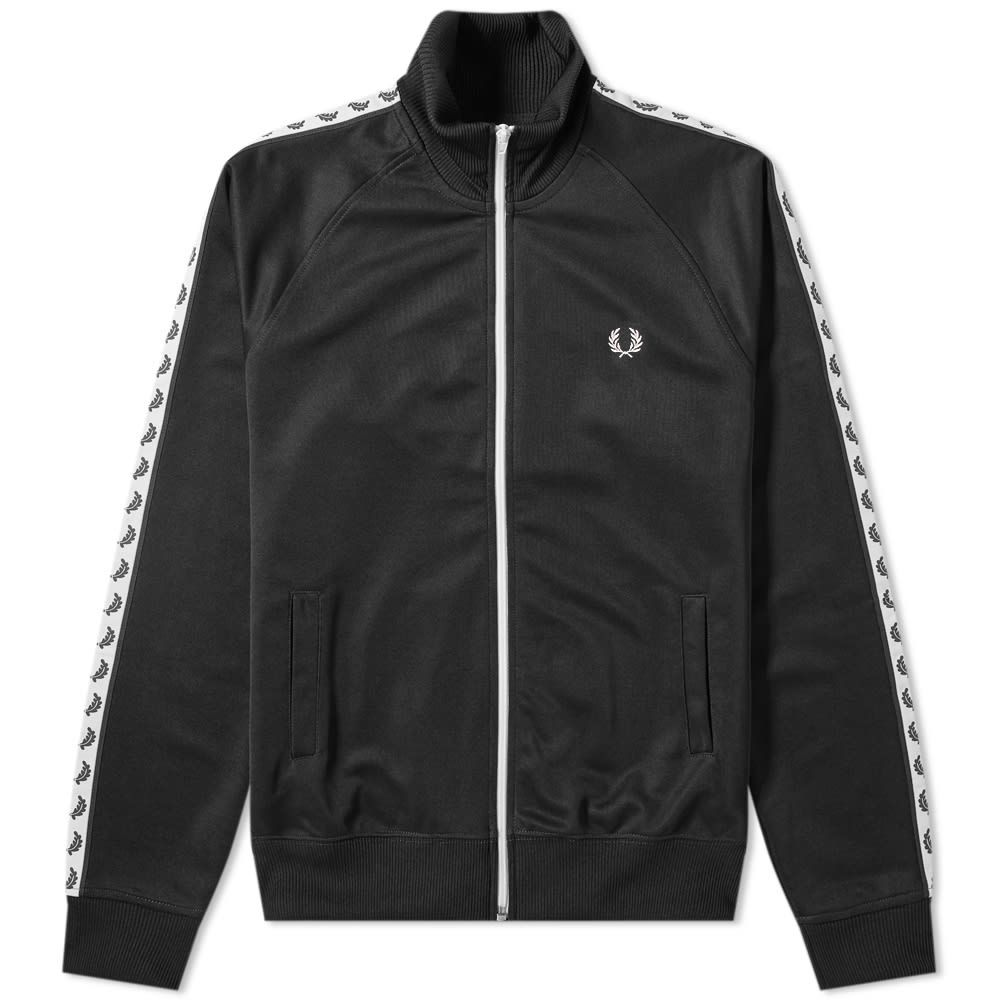 <title>フレッドペリー メンズ アウター ジャージ Black 春の新作 サイズ交換無料 Fred Perry Authentic taped track jacket</title>