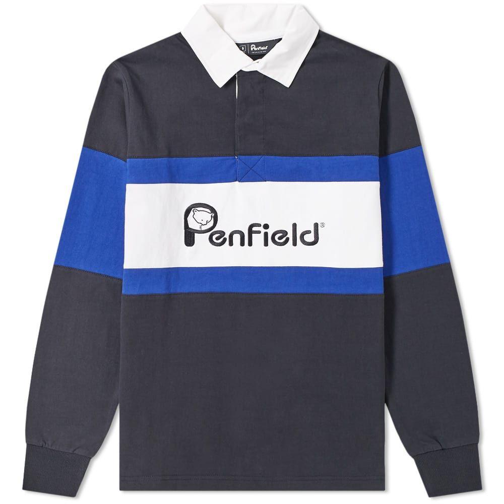 ペンフィールド Penfield メンズ ポロシャツ トップス【cass logo rugby shirt】Black
