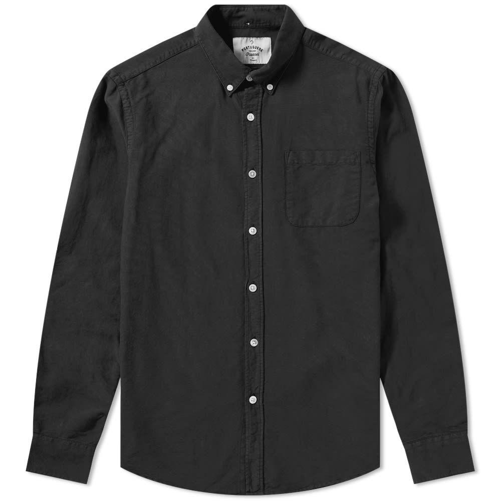 ポーチュギースフランネル Portuguese Flannel メンズ シャツ トップス【button down belavista oxford shirt】Black