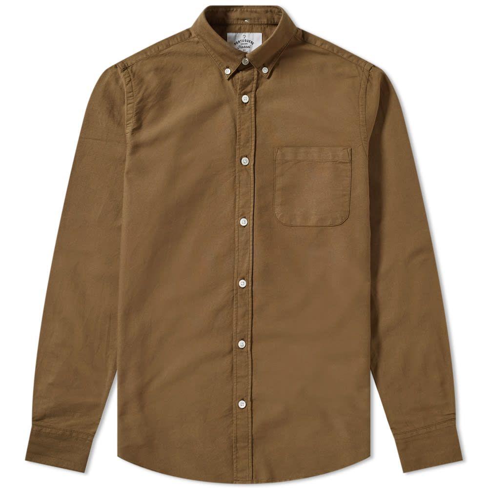 ポーチュギースフランネル Portuguese Flannel メンズ シャツ トップス【button down belavista oxford shirt】Olive