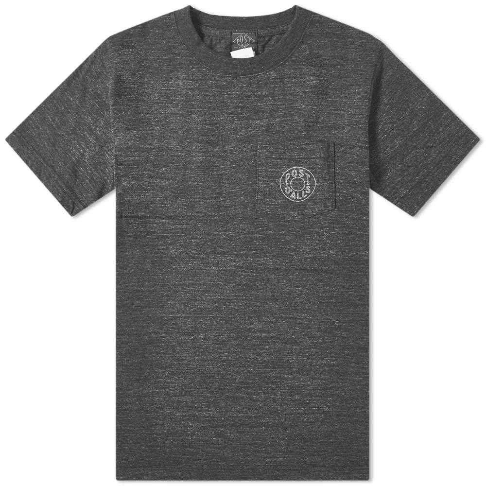 ポストオーバーオールズ Post Overalls メンズ Tシャツ ポケット ロゴTシャツ トップス【logo pocket tee】Black Heather