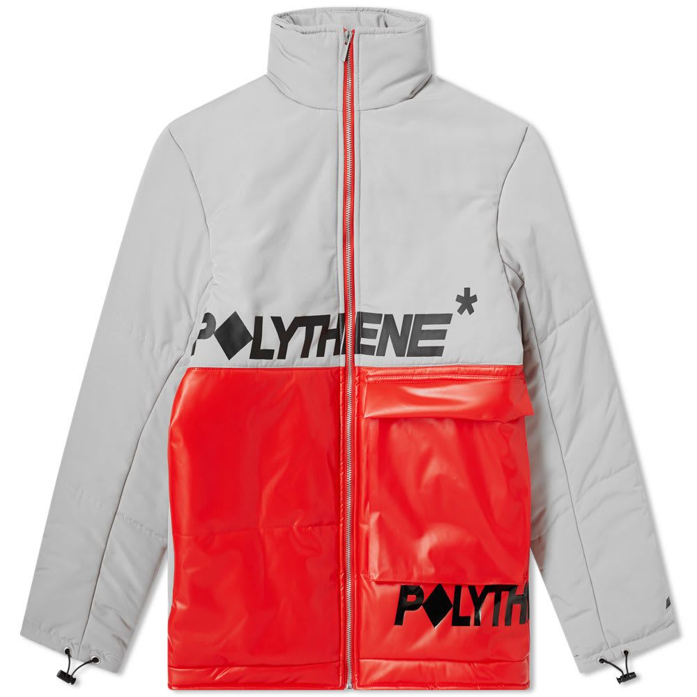 ポリシーン オプティクス Polythene Optics メンズ ダウン・中綿ジャケット アウター【short down jacket】Red