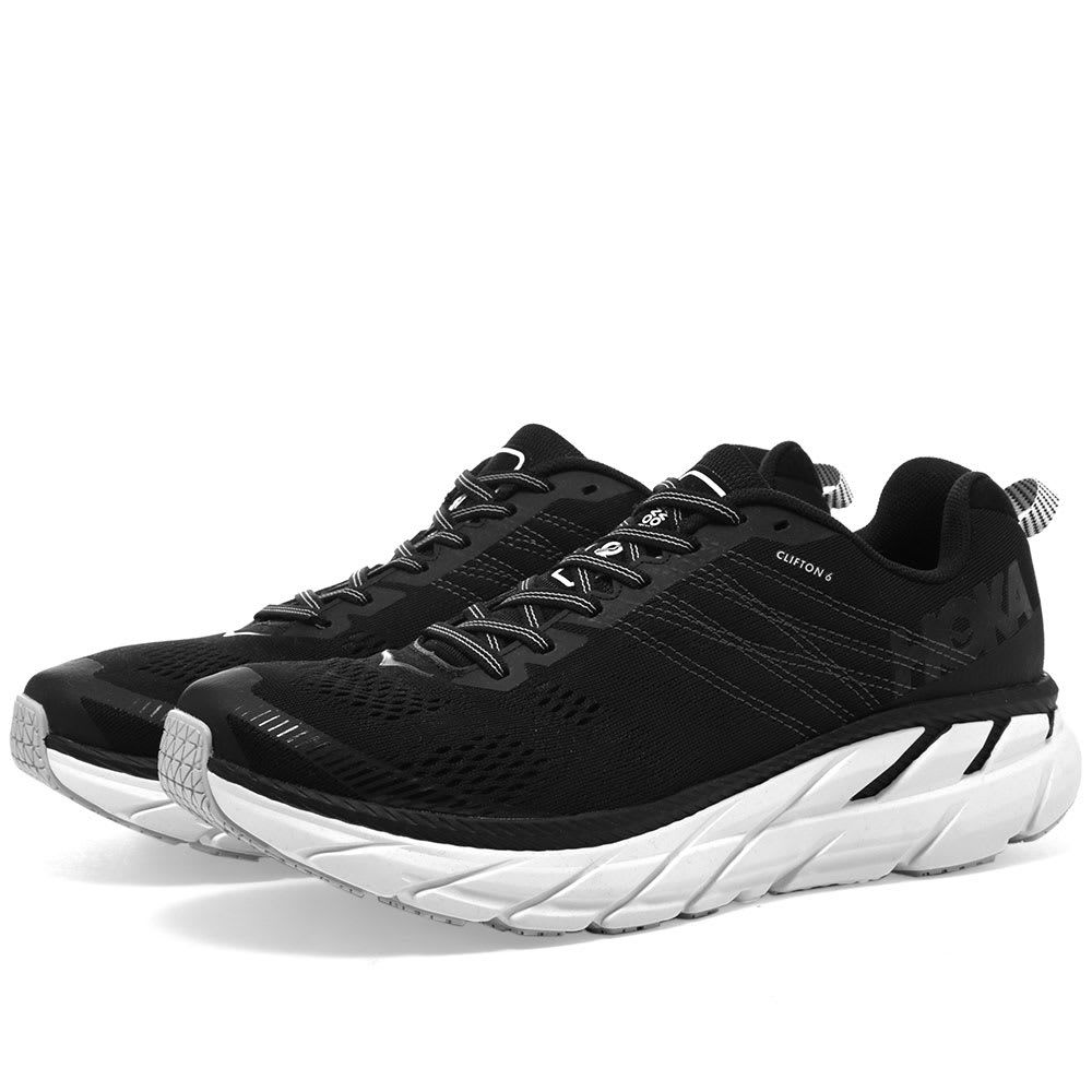 ホカ オネオネ Hoka One One メンズ シューズ・靴 スニーカー【HOKA Clifton 6】Black/White