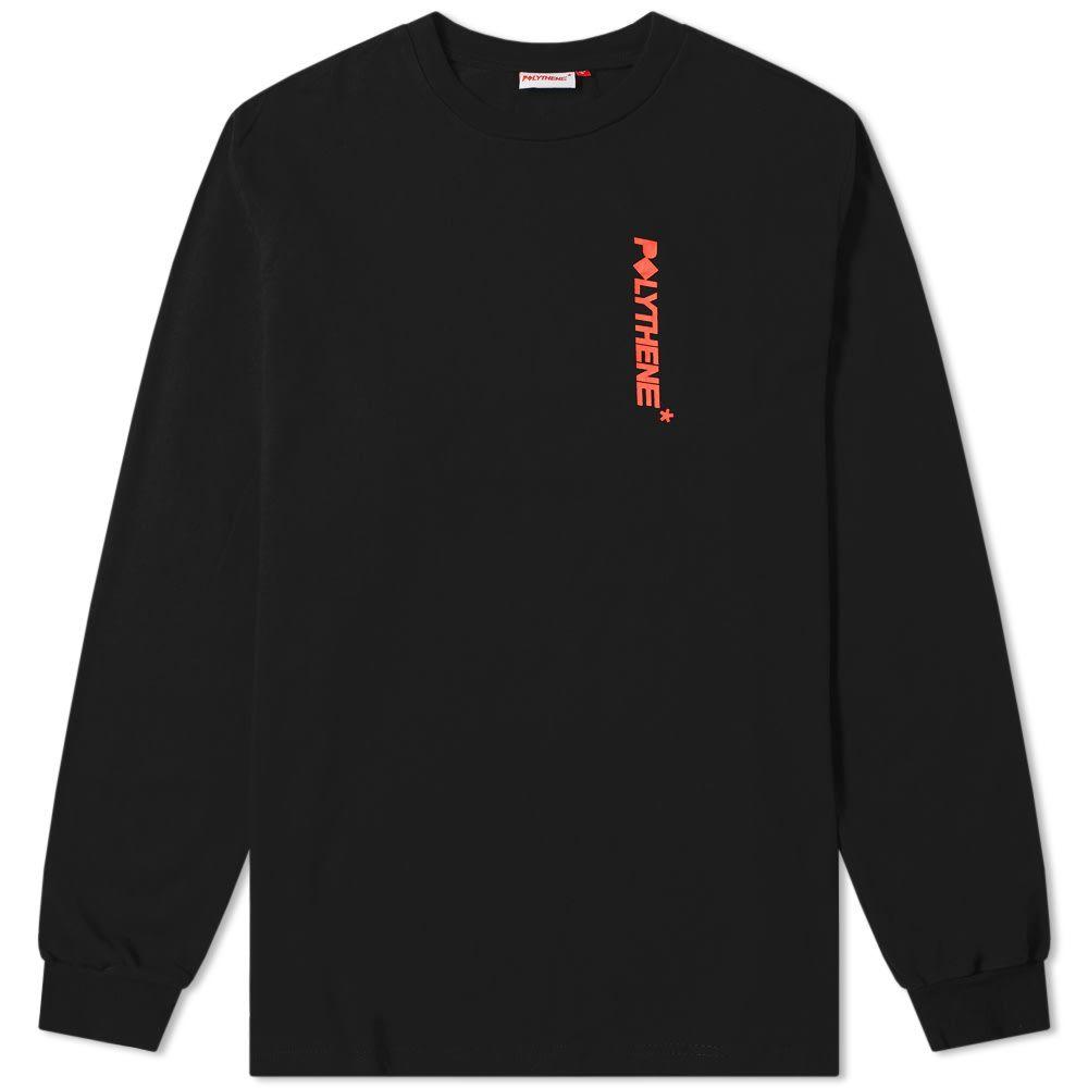 ポリシーン オプティクス Polythene Optics メンズ 長袖Tシャツ ロゴTシャツ トップス【long sleeve logo tee】Black/Red