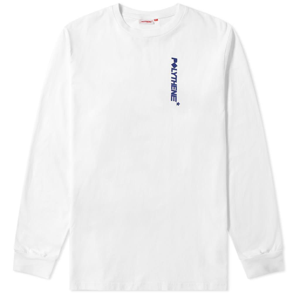 ポリシーン オプティクス Polythene Optics メンズ 長袖Tシャツ トップス【long sleeve metal rod tee】White/Navy