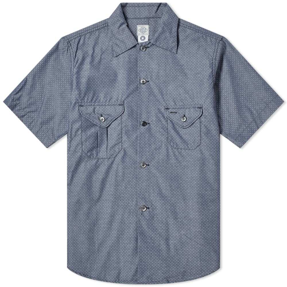 ポストオーバーオールズ Post Overalls メンズ 半袖シャツ トップス【short sleeve pocket shirt】Indigo