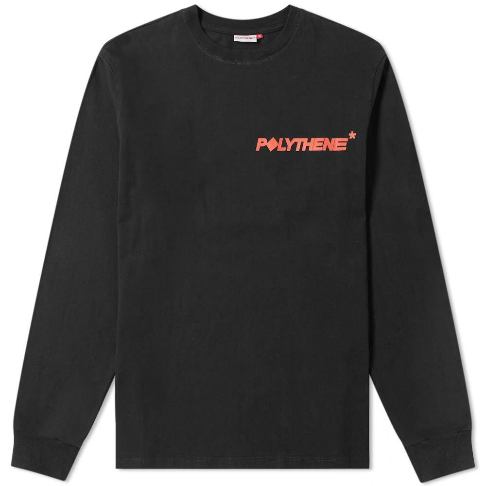 ポリシーン オプティクス Polythene Optics メンズ 長袖Tシャツ ロゴTシャツ トップス【long sleeve logo tee】Black
