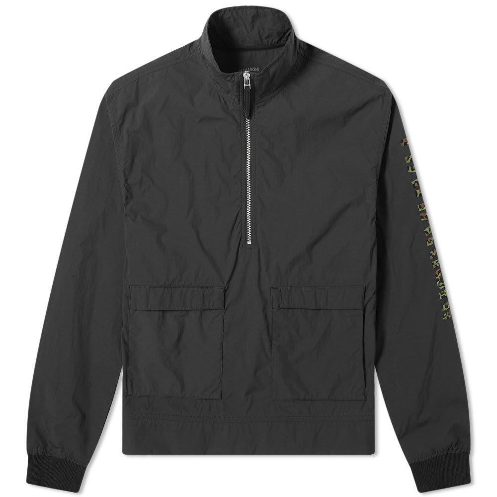 マハリシ Maharishi メンズ ジャケット アウター【leopard logo half zip popover jacket】Black