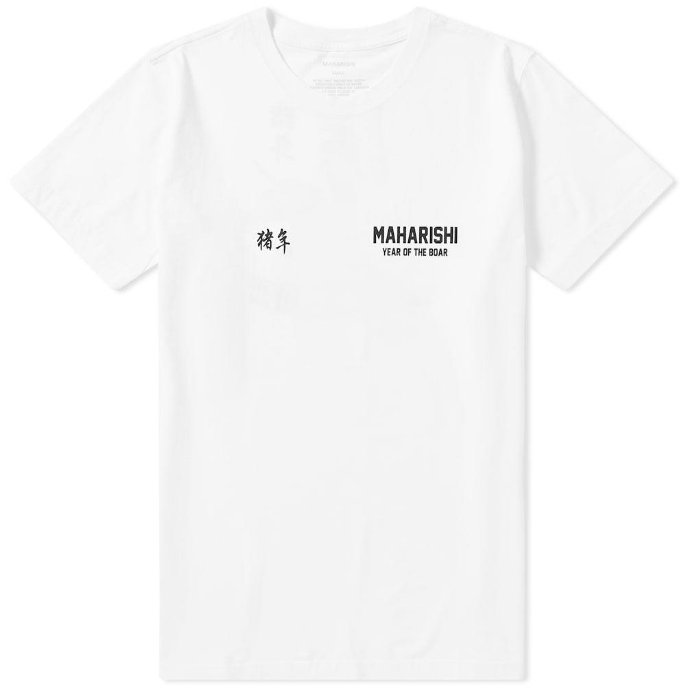 マハリシ Maharishi メンズ Tシャツ トップス【zhu bajie print tee】White