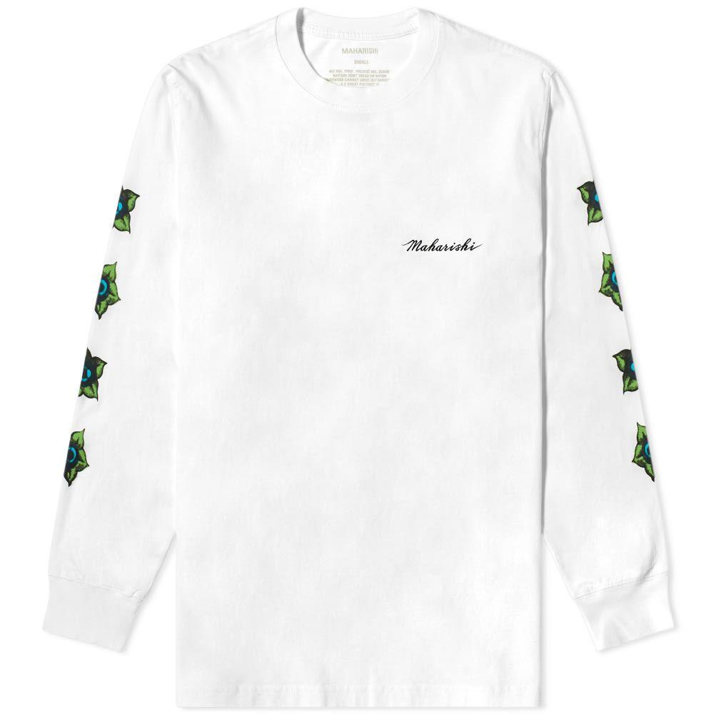 マハリシ Maharishi メンズ 長袖Tシャツ トップス【long sleeve pax cultura printed tee】White