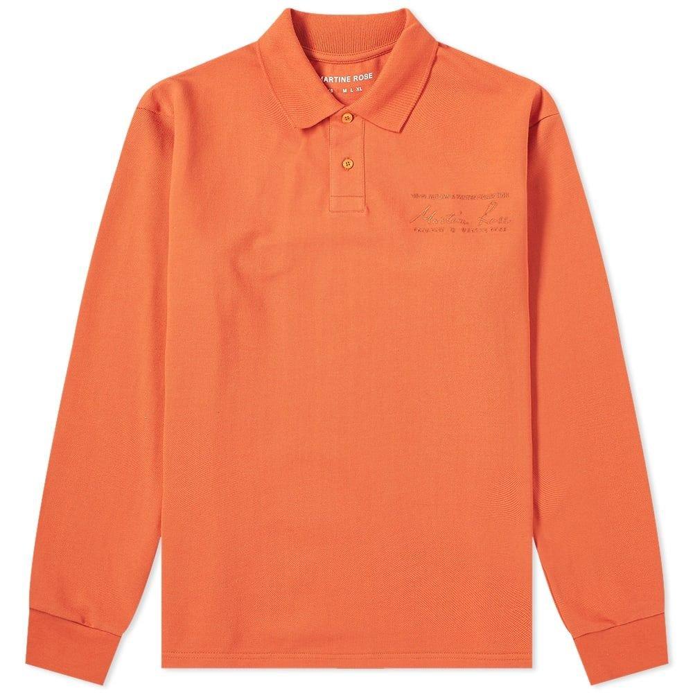 マーティン ローズ Martine Rose メンズ ポロシャツ トップス【long sleeve polo】Orange