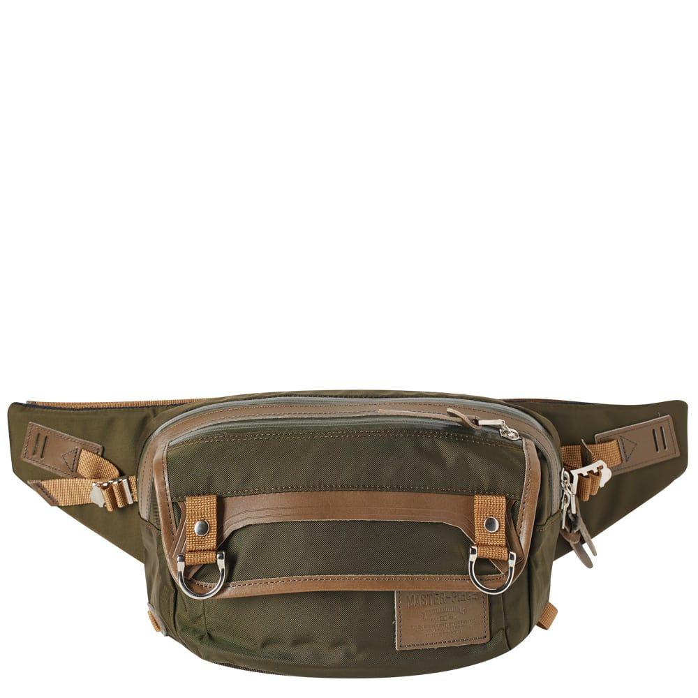マスターピース Master-Piece メンズ ボディバッグ・ウエストポーチ バッグ【potential leather trim waist pack】Olive