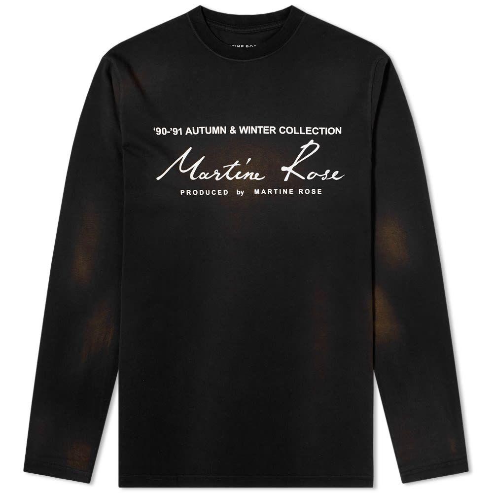 マーティン ローズ Martine Rose メンズ 長袖Tシャツ トップス【collection date long sleeve tee】Sunbleach Black