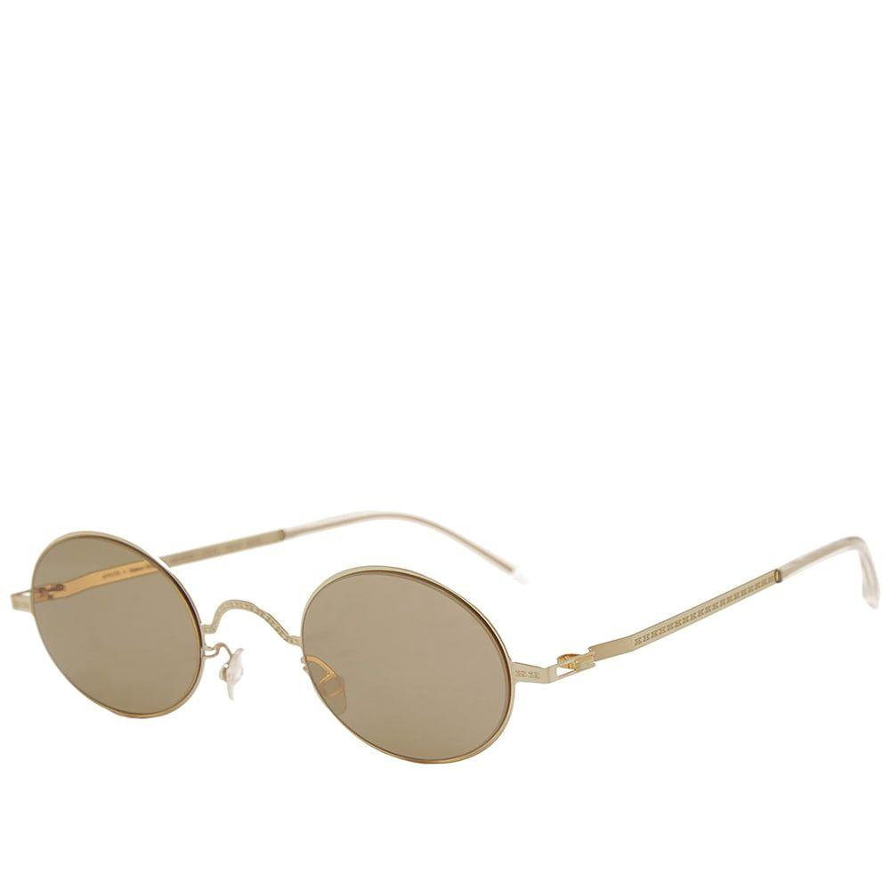 マイキータ MYKITA メンズ メガネ・サングラス 【x maison margiela mmcraft005 sunglasses】Glossy Gold/Light Brown