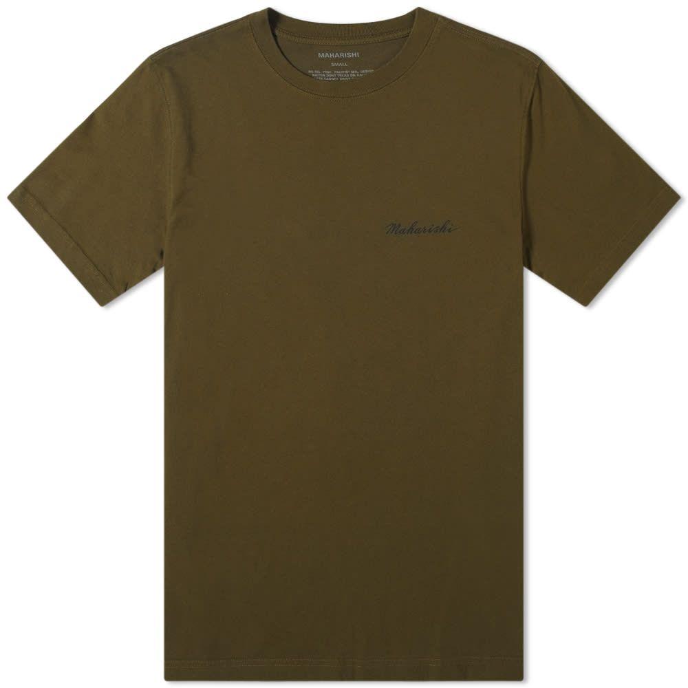 マハリシ Maharishi メンズ Tシャツ トップス【pax cultura printed tee】Mil Olive