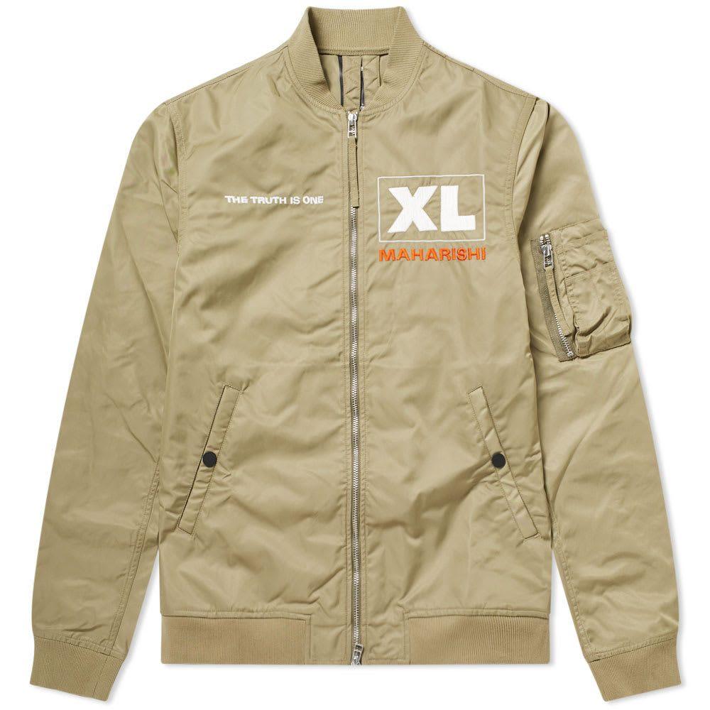 マハリシ Maharishi メンズ ブルゾン フライトジャケット アウター【x xl recordings flight jacket】Olive