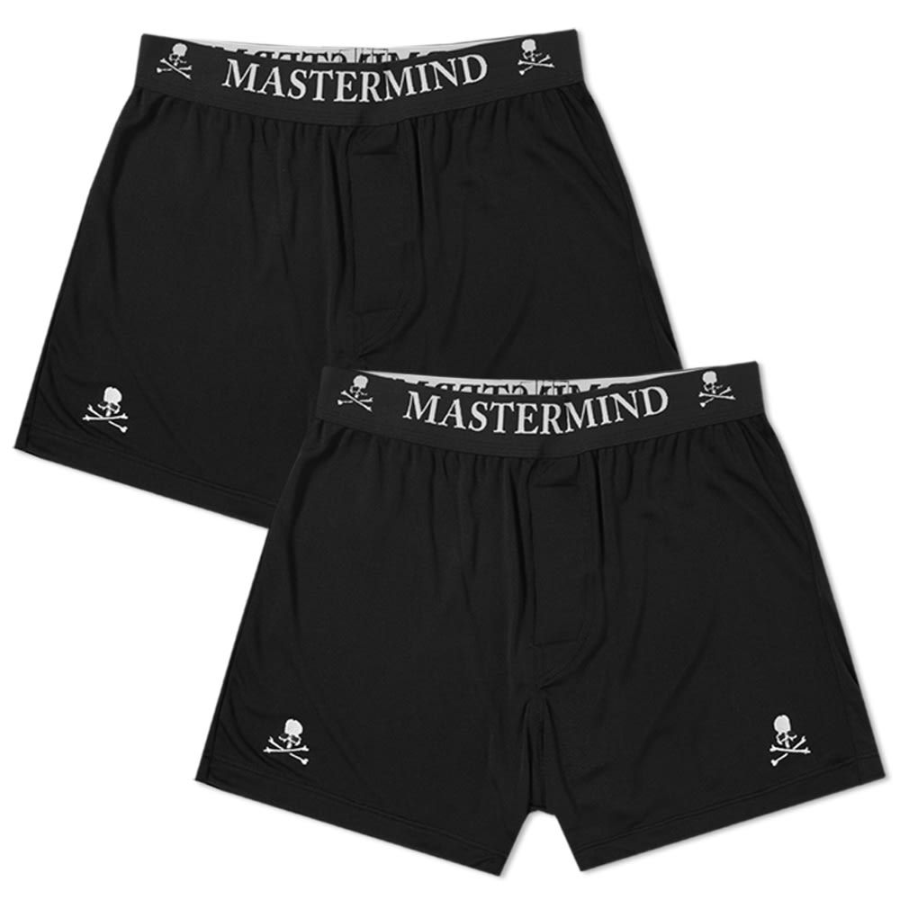 マスターマインド MASTERMIND WORLD メンズ ボクサーパンツ 2点セット インナー・下着【silk boxer short - 2 pack】Black