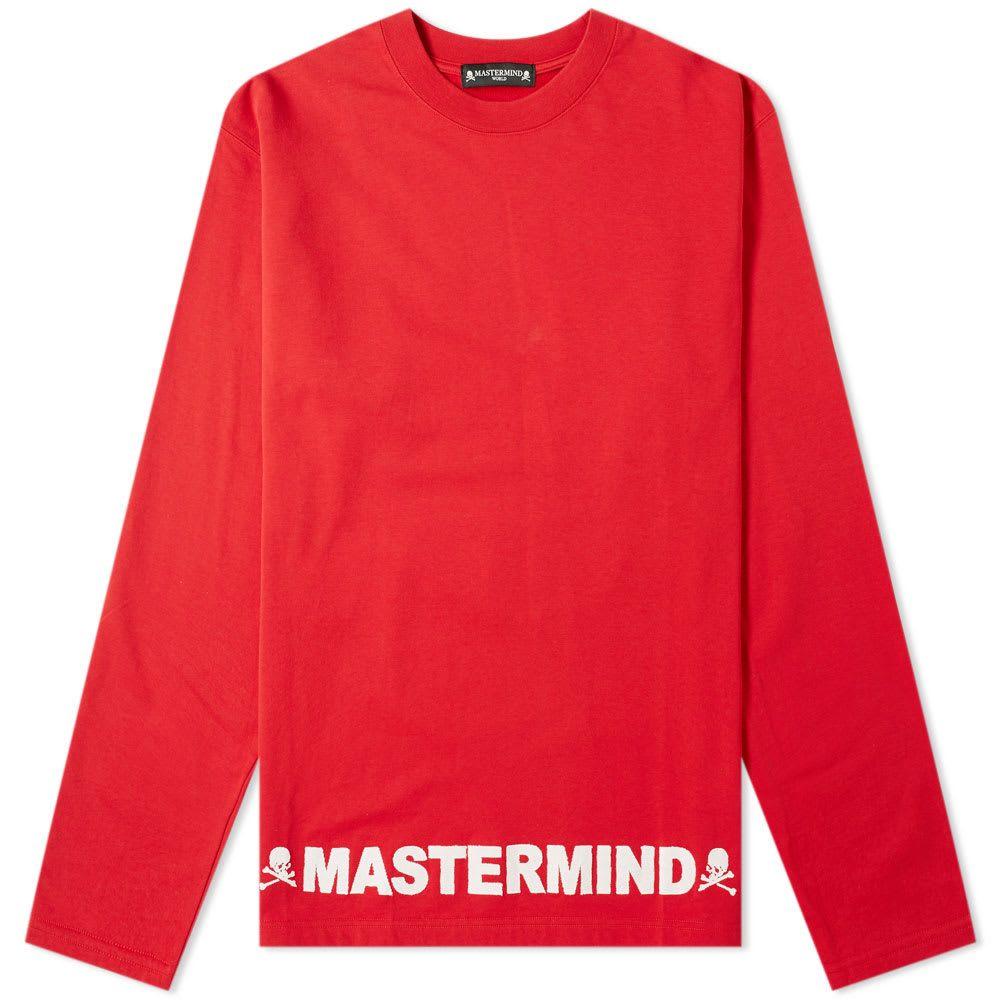 マスターマインド MASTERMIND WORLD メンズ 長袖Tシャツ トップス【long sleeve opal crew tee】Red