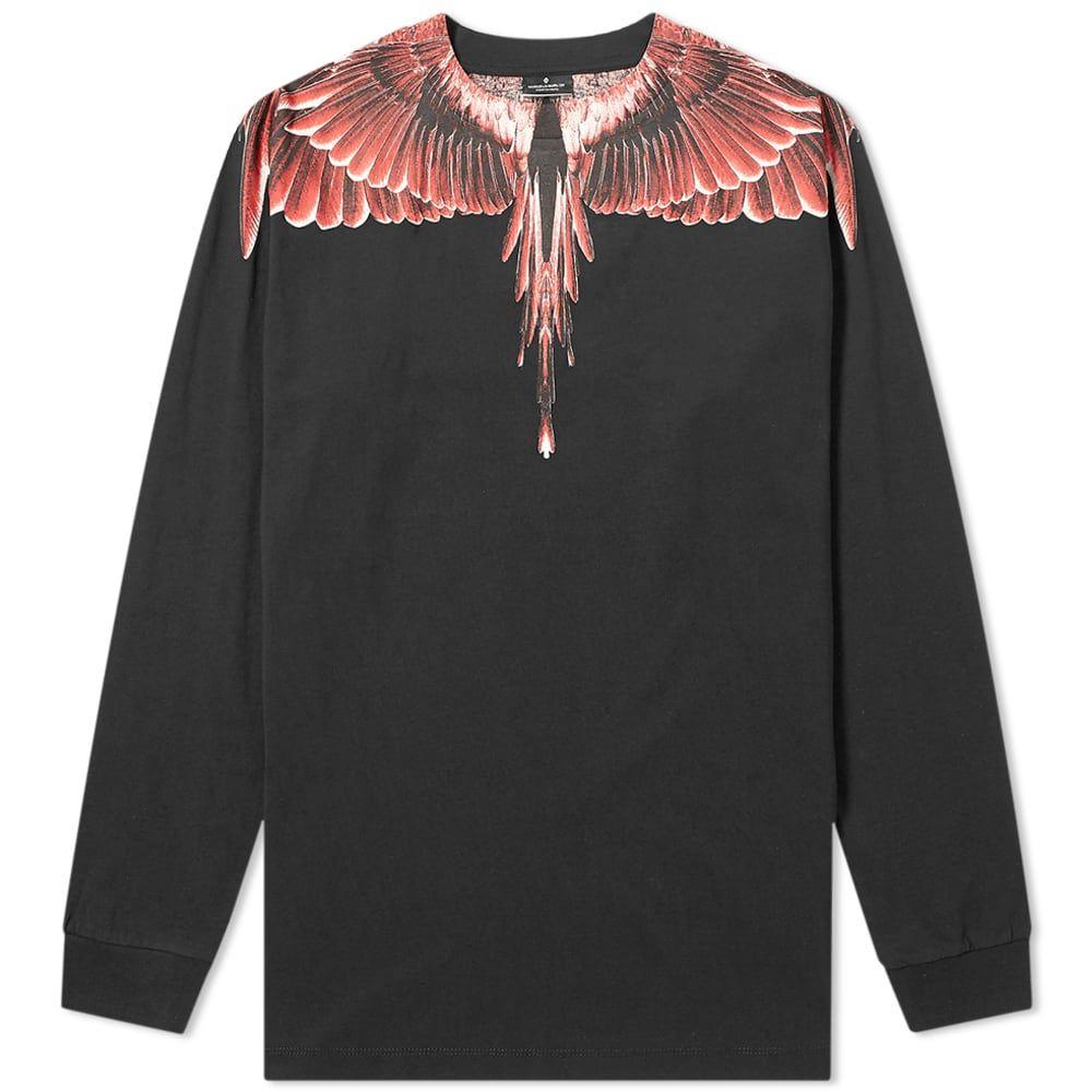 マルセロバーロン Marcelo Burlon メンズ 長袖Tシャツ トップス【long sleeve wings tee】Black/Red