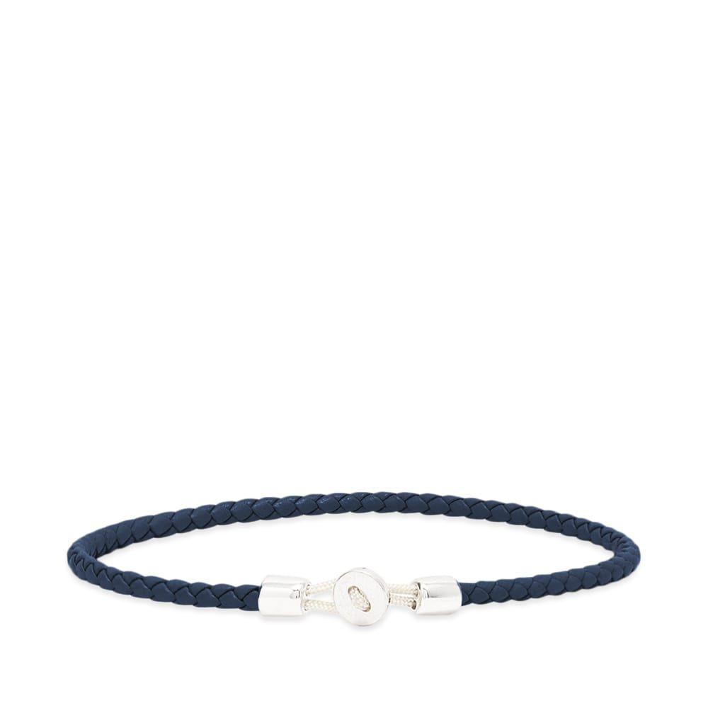 ミアンサイ Miansai メンズ ブレスレット ジュエリー・アクセサリー【nexus leather bracelet】Navy/Sterling Silver