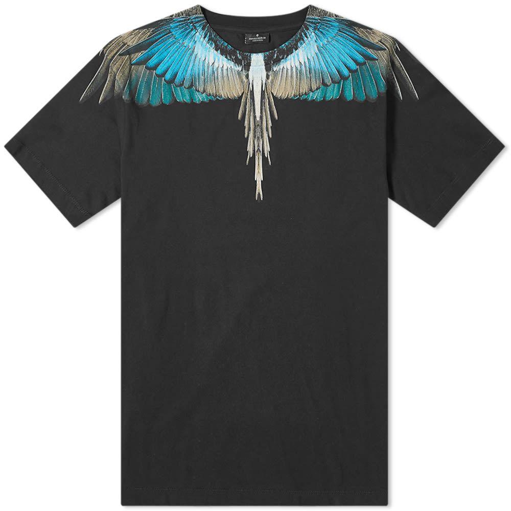 マルセロバーロン Marcelo Burlon メンズ Tシャツ トップス【wings tee】Black/Turquoise