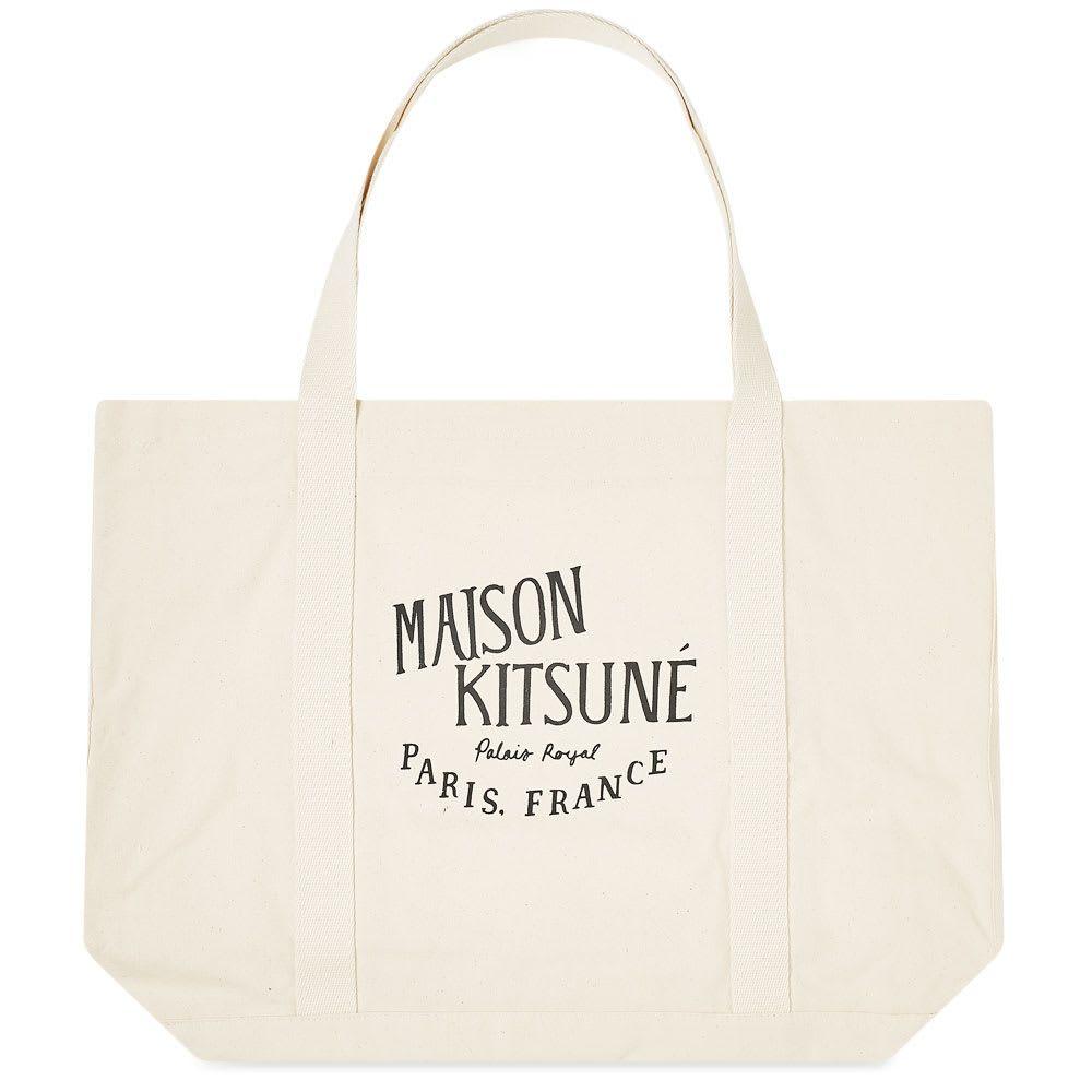 メゾン キツネ Maison Kitsune メンズ トートバッグ バッグ【palais royal shopping bag】Ecru/Black