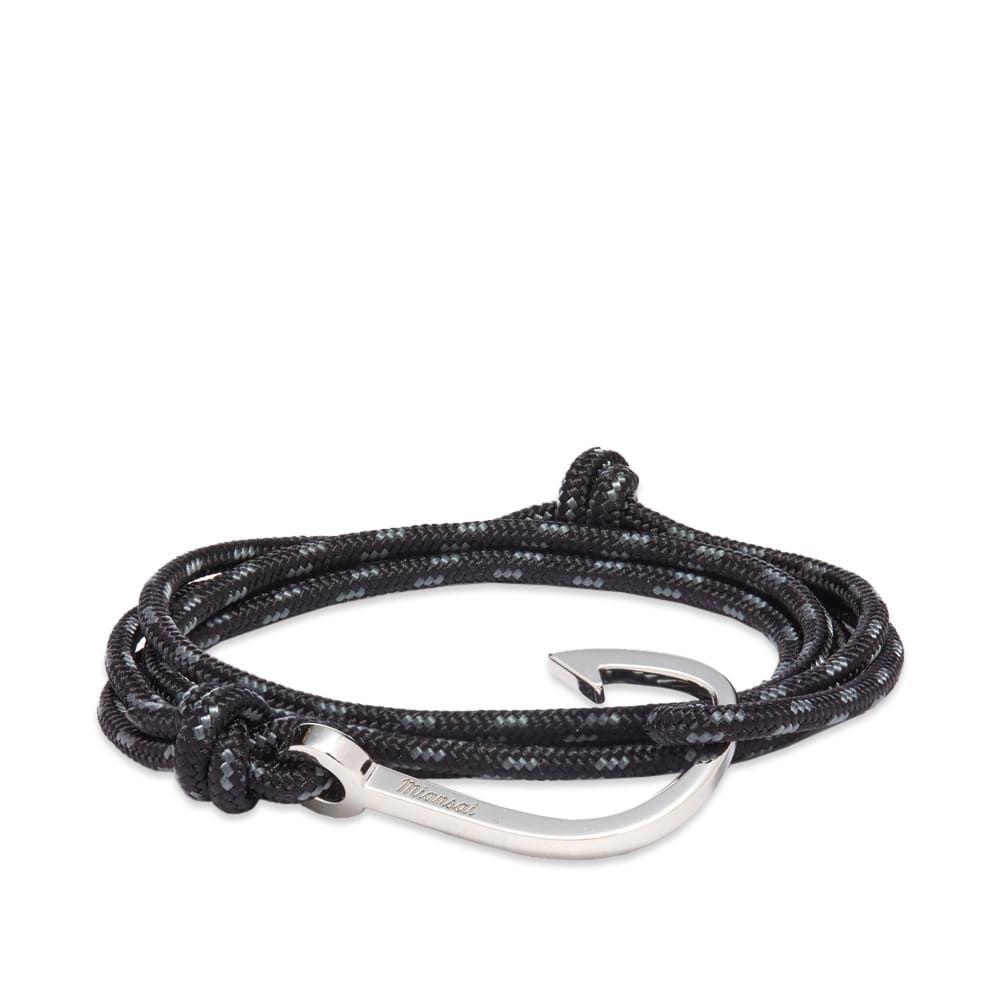 ミアンサイ Miansai メンズ ブレスレット ジュエリー・アクセサリー【hook rope bracelet】Silver/Asphalt