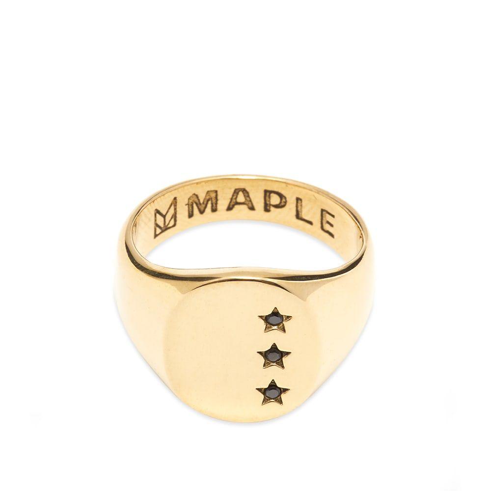 メープル Maple メンズ 指輪・リング ジュエリー・アクセサリー【star signet ring】Brass/Onyx