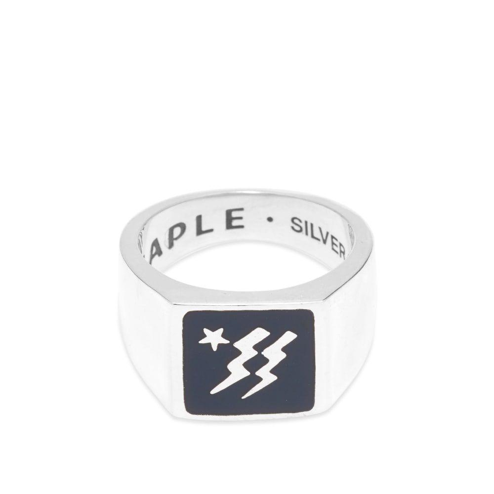 メープル Maple メンズ 指輪・リング ジュエリー・アクセサリー【lightning ring】Navy/Silver