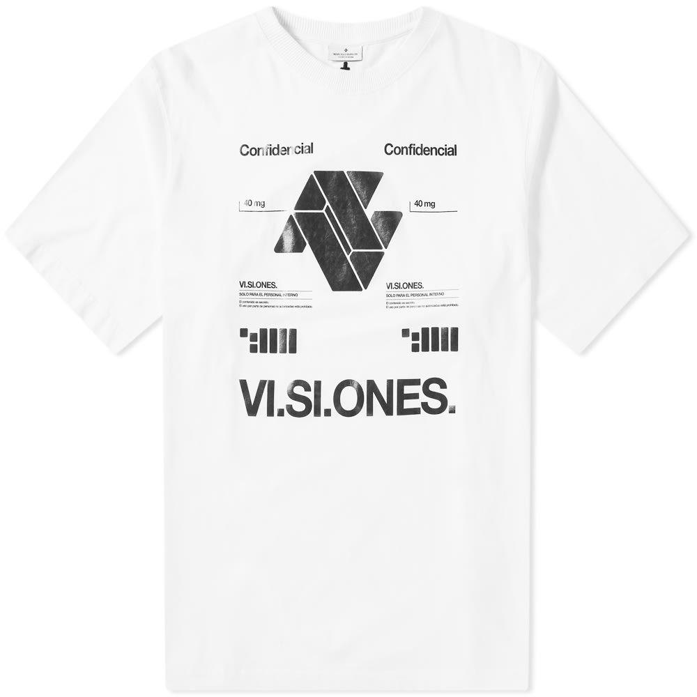 マルセロバーロン Marcelo Burlon メンズ Tシャツ トップス【vi.si.ones oversized tee】White/Black